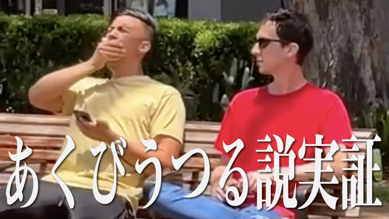 Jamie Zhu あくびをしたら隣の人もあくびする説、実証動画【日本語字幕付き】