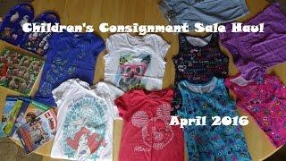 Children's Consignment Sale Haul   April 2016