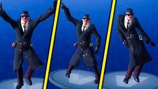 SHOWS ALL DANCES TO THE NEW SKINNET! (Noir)-Fortnite