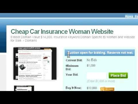 Cheap Car Insurance Woman | Websites For Sale