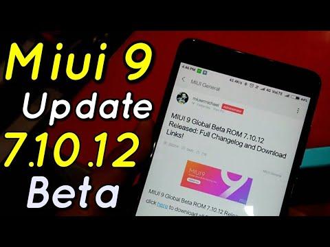 Miui 9 Beta Update 7.10.12 Full Changelog