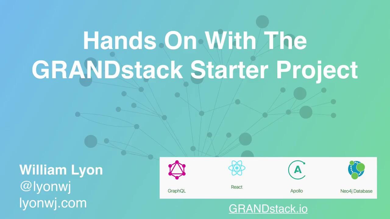 GRANDstack and Neo4j GraphQL - Neo4j Graph Database Platform