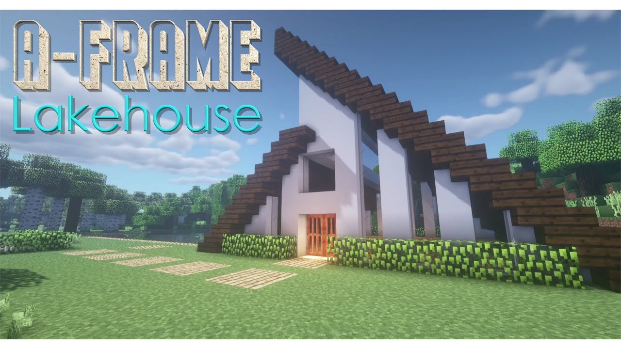 Minecraft: A-Frame House | How To Build | Episode 16