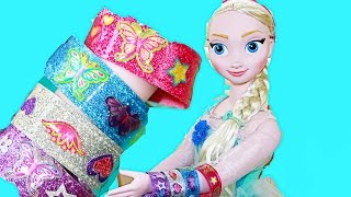 Disney Frozen Giant My Size Elsa Makes Melissa & Doug Bracelets Glitter Fashion Glam Jewelery Toy