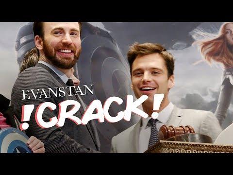 Chris Evans and Sebastian Stan  Evanstan Crack