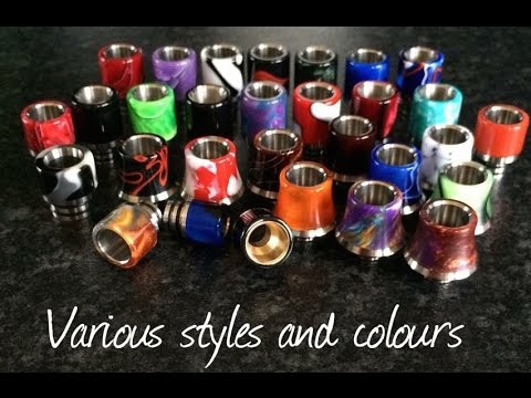 vince s acrylic drip tips reviews youtube