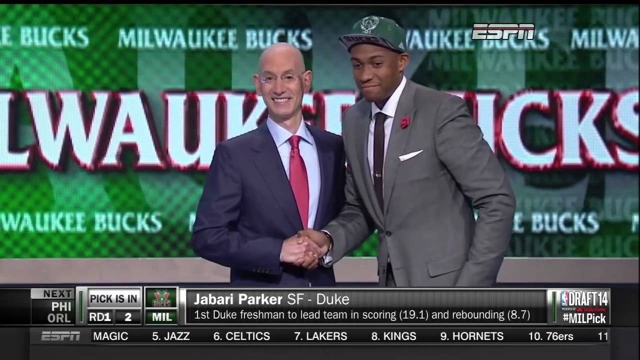 Jabari Parker #2 2014 NBA Draft Pick - Milwaukee Bucks ... Jabari Parker Nba Draft