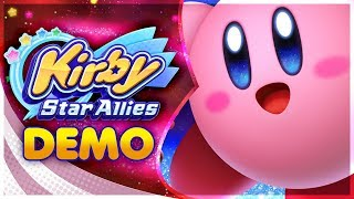 Kirby Star Allies - FULL DEMO GAMEPLAY! [🔴LIVE]