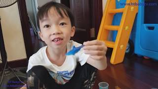 Baby Created Mini Aquarium And Many marine Animals 🐋🐳🦀Thủy Cung Mini Của Bé ❤️ HT BabyTV ✔︎