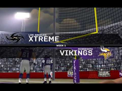 UCFL* Preseason Wk1 Game 5 - Los Angeles Xtreme vs Minnesota Vikings (Madden 08 (PC))