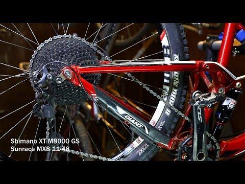Shimano Deore XT M8000 11S Drivetrain groupset MTB 11speed group 46//50//52T