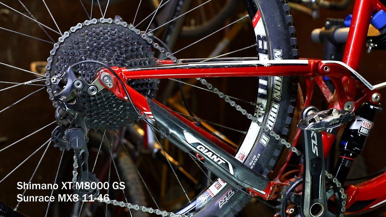 SHIMANO XT M8000-GS 11-SPEED MEDIUM CAGE BLACK MTB REAR BICYCLE DERAILLEUR