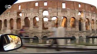 Mit dem Taxi durch Rom  Euromaxx  Im Taxi
