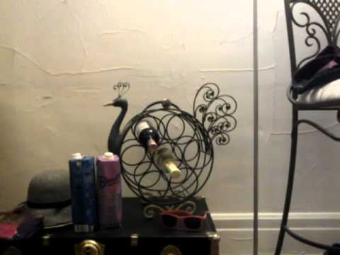 Pet Finches on Wine Rack