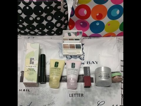 Hudson's bay clinique gift with purchase February 2016 (quick + swatches )