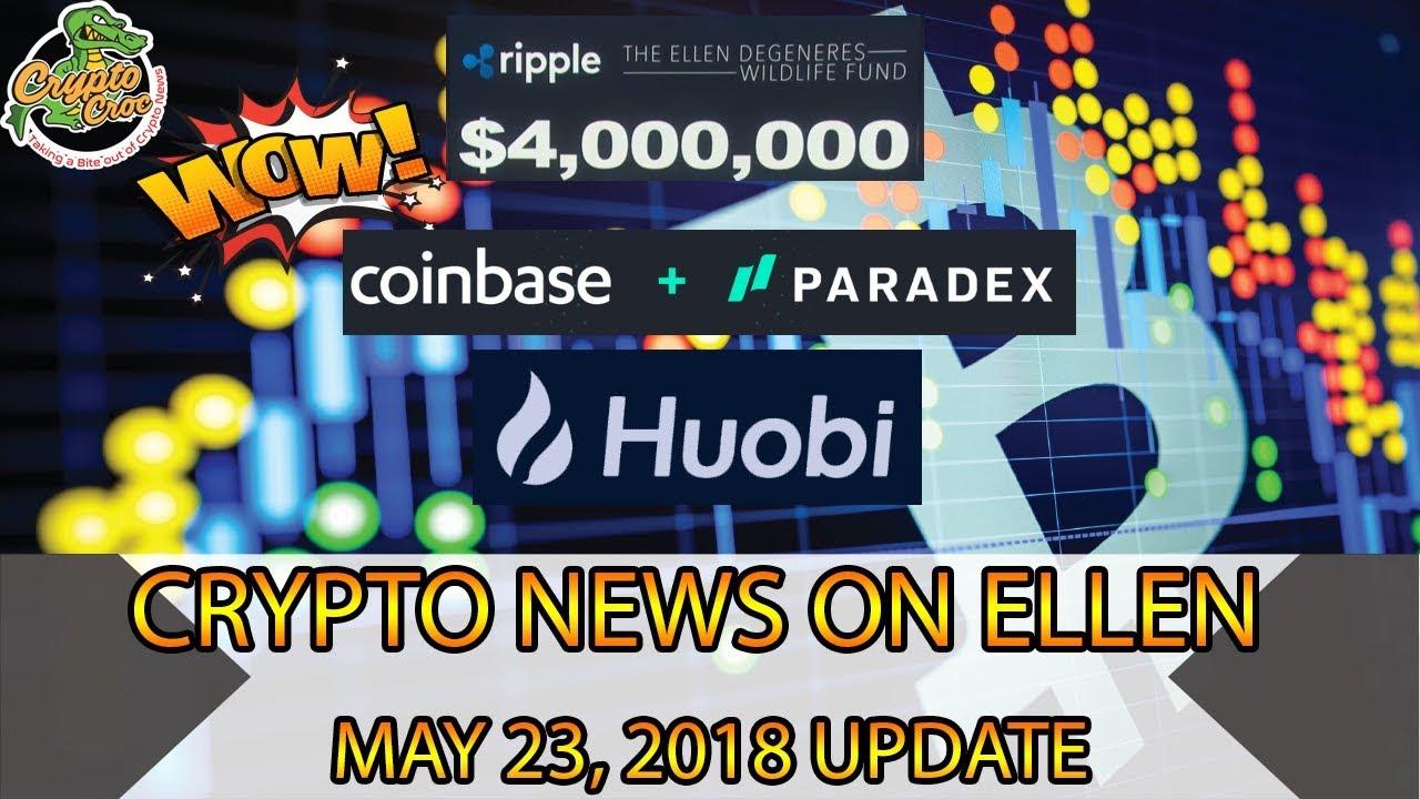 Crypto Croc - Paradex Joins Coinbase, XRP on Ellen, Huobi Pro Announces Index Fund!