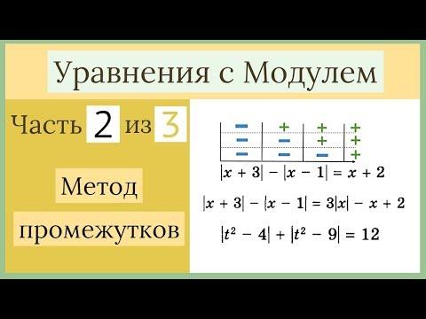 Метод промежутков. Уравнения с Модулем Часть 2 из 3