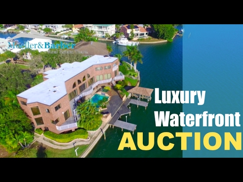 Auction Luxury Waterfront Estate  Over 7000sf and 200sf Waterfront