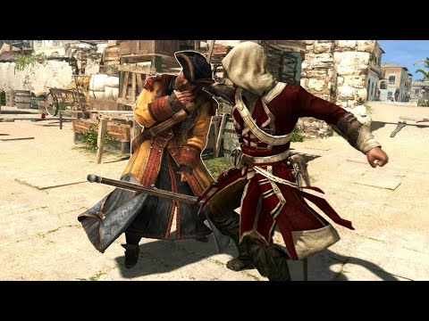 Assassin's Creed 4 Officer's Outfit Single Sword & Musket Finishing Moves/Counter Kills