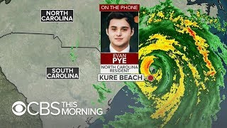 """North Carolinian riding out Hurricane Florence: """"This is my home"""""""