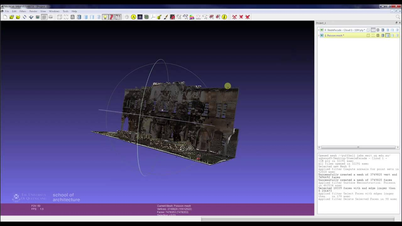 3D Laser Scanning - Meshing Point Clouds in Meshlab