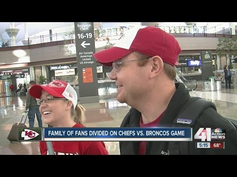 A family of fans divided on Chiefs vs. Broncos game