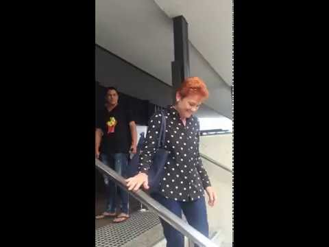 Pauline Hanson & James Ashby turned away from Cairns Indigenous Art Fair