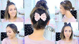 EASY + FAST Bun Hairstyles For Short Hair!