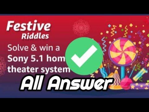 Amazon Festive Riddles Quiz Answer Amazon Quiz Answers Today Youtube