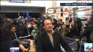 ASÍ ARRANCA EL BUEN FIN EN PLENA MEDIANOCHE VIDEO CIENTOS EN SAM'S CLUB CDMX
