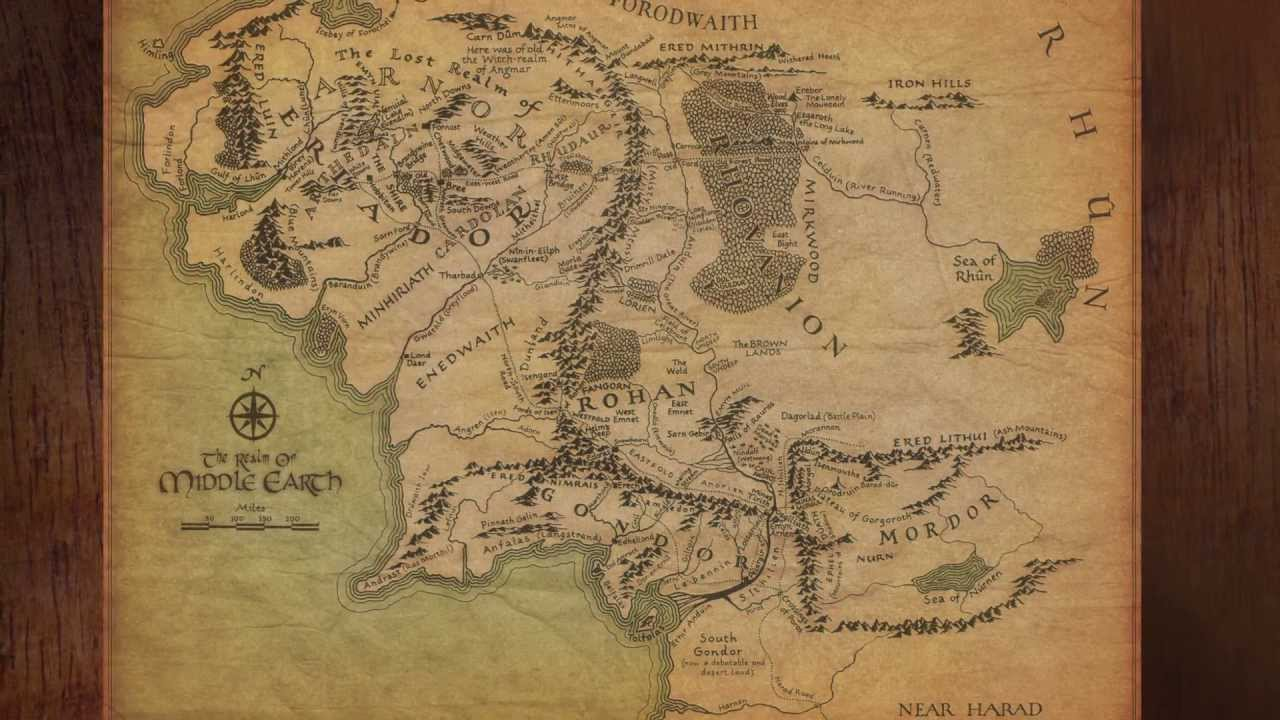 Middle Earth Map: Fellowship