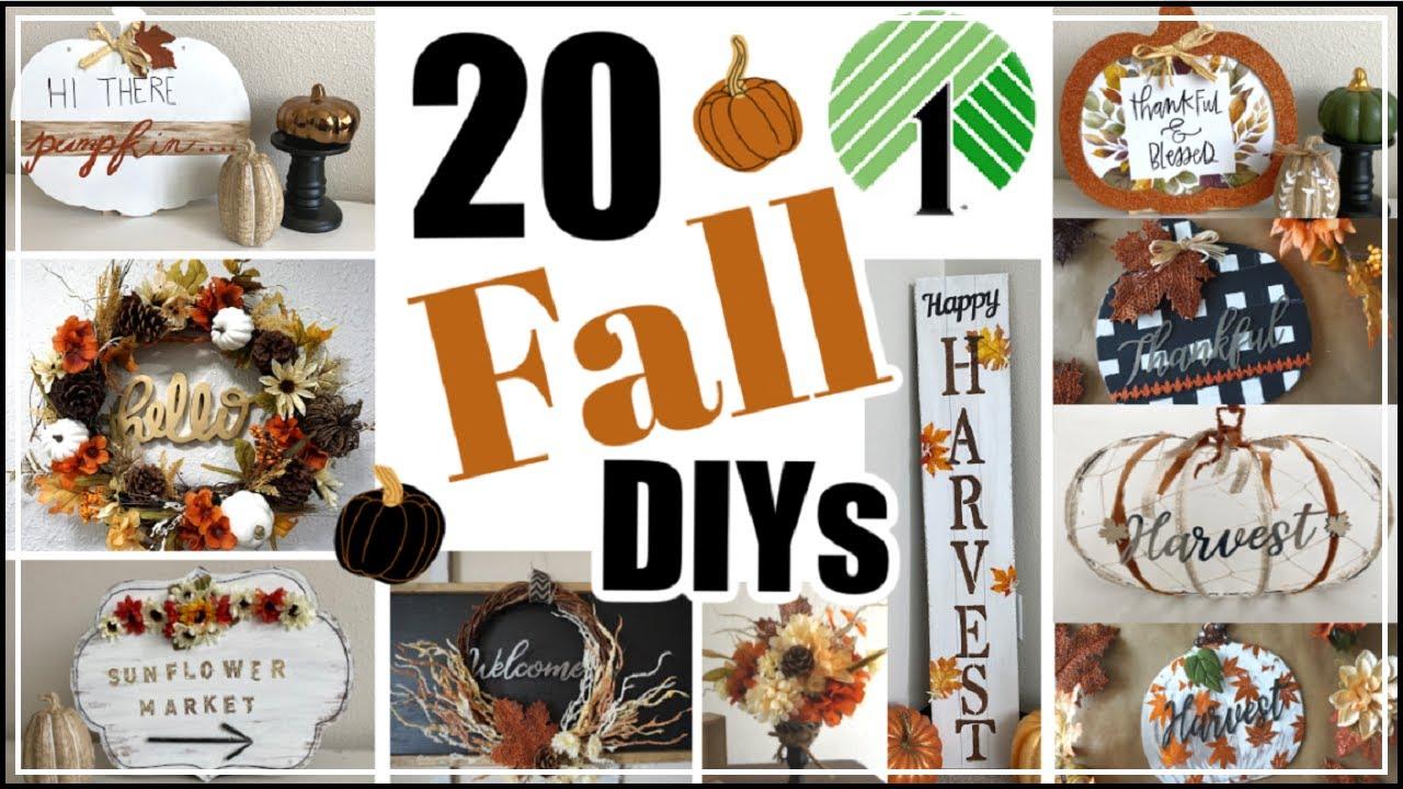 20 Fall Dollar Tree DIY Home Decor Ideas | Traditional Fall Decor