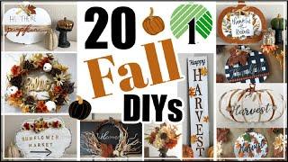 20 Fall Dollar Tree DIY Home Decor Ideas   Traditional Fall Decor