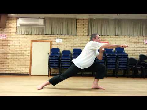 Brisbane Knife Combat and Defense Study Group - Leg conditioning exercise