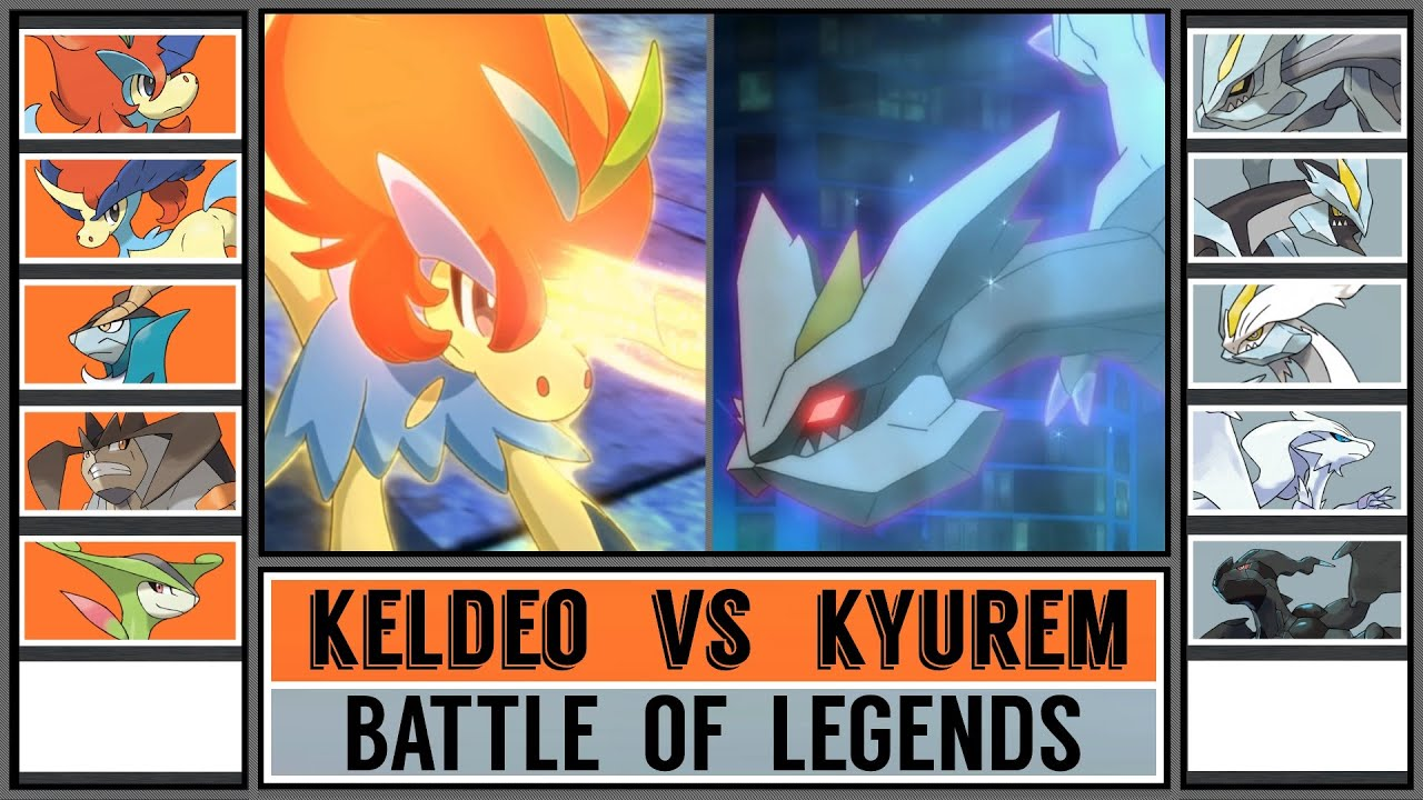 KELDEO vs KYUREM - Unova Legend Battle