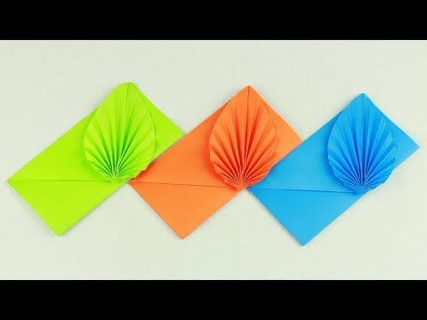 [NO GLUE Paper Crafts] Envelope Making With Paper (Without Glue Tape and Scissors) Origami Envelope