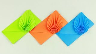 [NO GLUE Paper Crafts] Envęlope Making With Paper (Without Glue Tape and Scissors) Origami Envelope