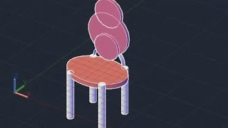 3d - Dining Table Chair Autocad 2013/ 2014