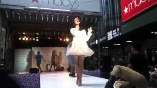 Ariana Grande Singing Born This Way at Macy s Summer Blowout