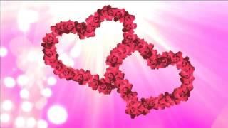 Свадебный футаж  Два сердца из цветов цыганская свадьба