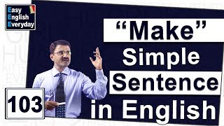 How to make a sentence in English|Excellent communication skills|Free spoken English learning videos