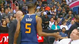 Rodney Hood Slaps Phone Out Of A NBA Fan's Hand After Getting Ejected! Wizards vs Jazz