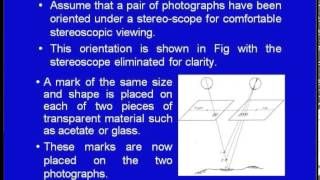 Mod-01 Lec-21 Stereoscopy-Geometry of overlaping photograph