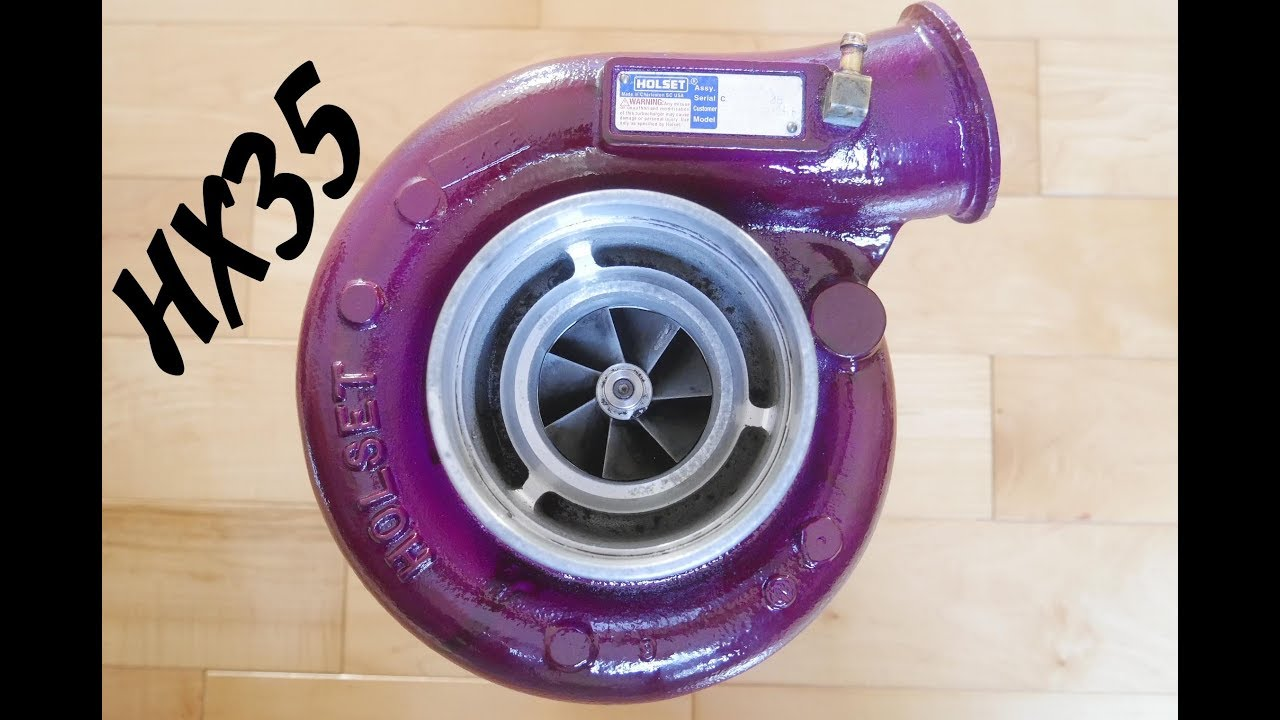 Holset HX35 Turbo Rebuild - Painted Purple