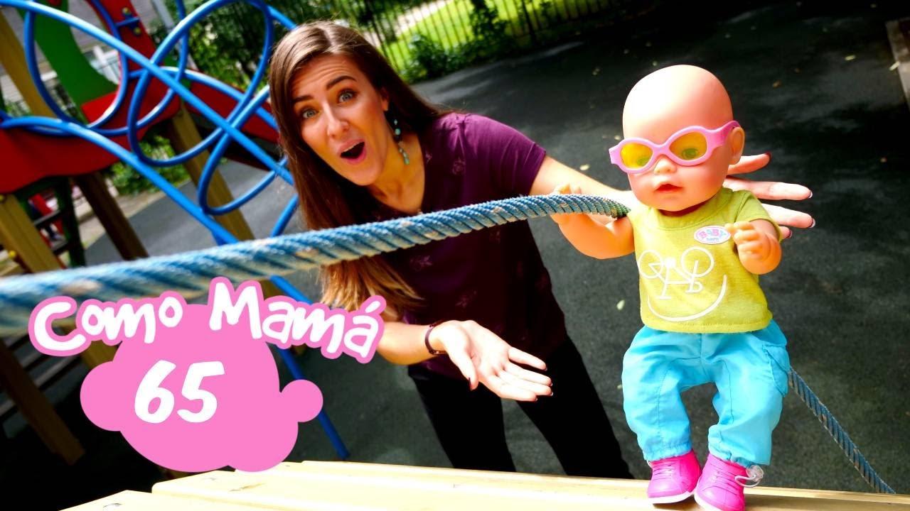 La bebé Amelia en el patio de recreo. Vídeo educativo del canal Como mamá. Vídeos de bebés Baby Born