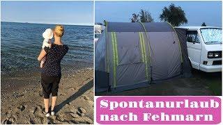 Mit dem Bulli nach Fehmarn I Spontanurlaub I Campen mit Baby I Roomtour I FamilyVlog I AllesClärchen