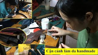 Khám Phá Xưởng Đồ Da Handmade Toàn Sinh Viên Mua Ví Da 300 Ngàn Ở Trung Tâm Sài Gòn