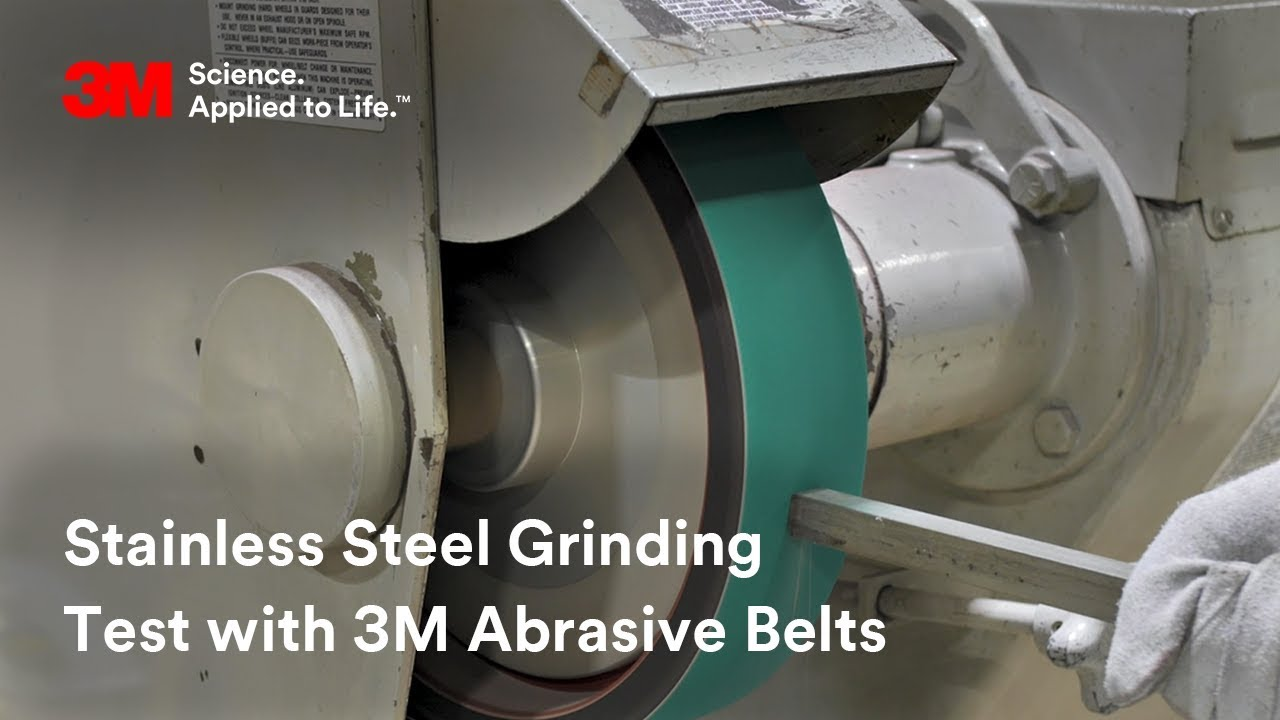Stainless Steel Grinding Test with 3M Abrasive Belts
