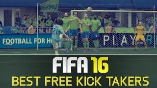 FIFA 16 - TOP 10 FREE KICK TAKERS - FREE KICK MONTAGE