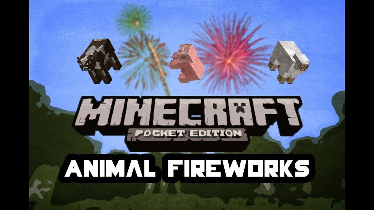 Animal Fireworks Glitch | Minecraft Pocket Edition | Tutorial